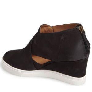 Linea Paolo Faith Wedge Sneaker Black
